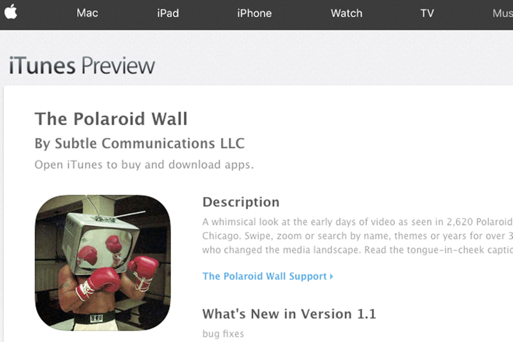 The Polaroid Wall is available on iTunes