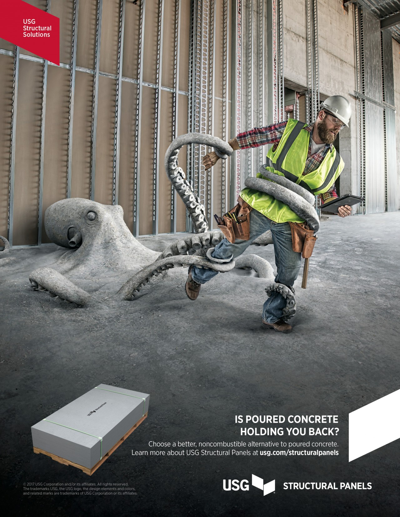The octopus, hippo and turtle are all effective metaphors for concrete holding a builder back from completing a mid-rise project on time.