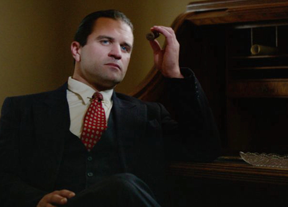 """Milo Gibson as Al Capone in """"Gangster Land"""""""