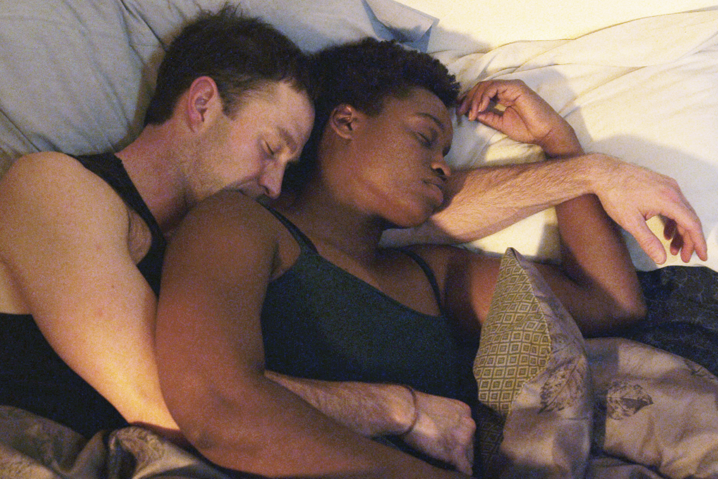 "Josh Bywater and Aneisa Hicks in ""The Haven"""